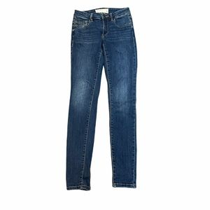 0 Blue Denim Garage skinny Jeans | High Waisted